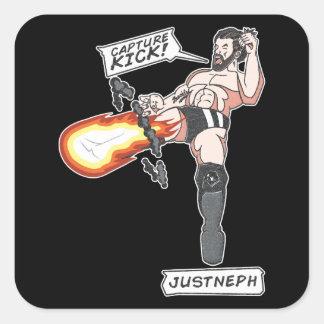 Capture Kick Sticker