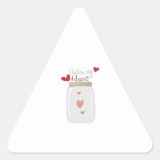 Capture My Heart Triangle Sticker