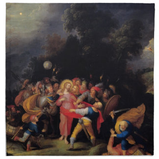 Capture of Christ  Painting image by Master Artist Cloth Napkins