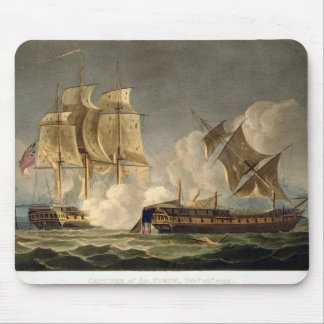 Capture of La Forte, February 28th 1799, engraved Mouse Pad