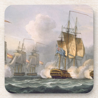Capture of the Dorothea, July 15th 1798, engraved Drink Coaster