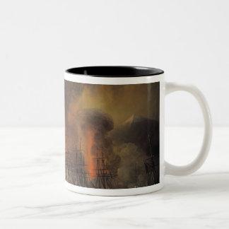 Capture of the Fort of Saint-Jean-d'Ulloa Two-Tone Coffee Mug