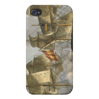 Capture of the Mahonesa, October 13th 1796, engrav iPhone 4 Case