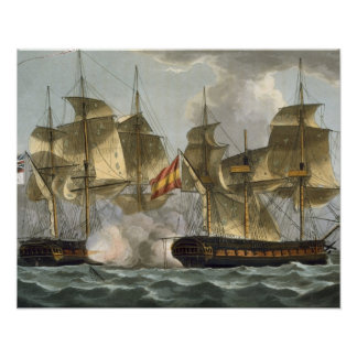 Capture of the Mahonesa, October 13th 1796, engrav Poster