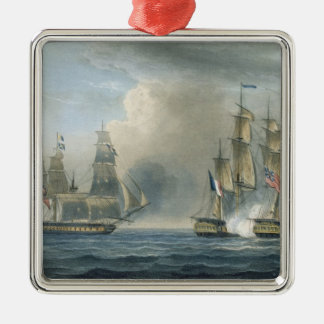 Capture of the Pomone by HMS Arethusa off Cuba in Christmas Ornament