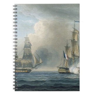 Capture of the Pomone by HMS Arethusa off Cuba in Notebook