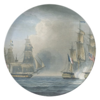 Capture of the Pomone by HMS Arethusa off Cuba in Plate