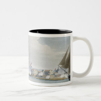 Capture of the port of Curacoa, Dutch East Indies, Two-Tone Coffee Mug