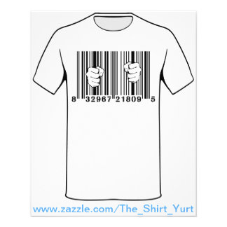 Captured By Consumerism UPC Barcode Prison 11.5 Cm X 14 Cm Flyer