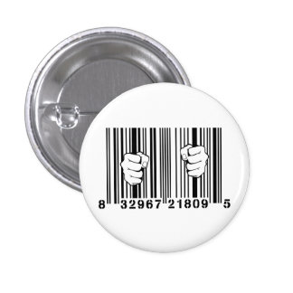 Captured By Consumerism UPC Barcode Prison 3 Cm Round Badge