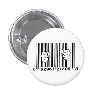 Captured By Consumerism UPC Barcode Prison 3 Cm Round Badge