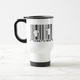 Captured By Consumerism UPC Barcode Prison Mug
