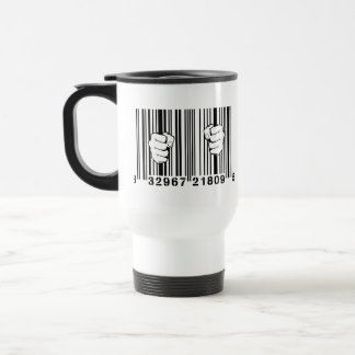 Captured By Consumerism UPC Barcode Prison Stainless Steel Travel Mug