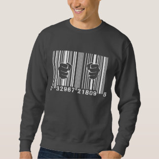 Captured By Consumerism UPC Barcode Prison Sweatshirt