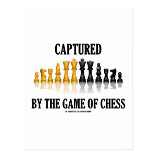 Captured By The Game Of Chess (Reflective Chess) Postcard