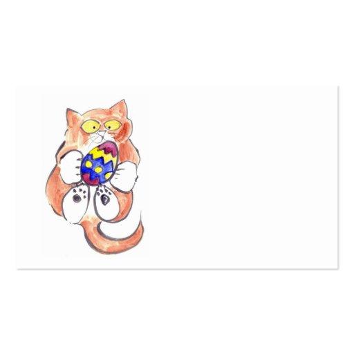 Captured Easter Egg by Kitten Business Card