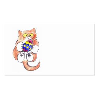 Captured Easter Egg by Kitten Pack Of Standard Business Cards