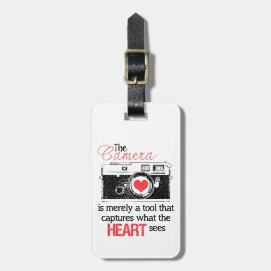 Capturing the Heart Camera Bag Tag
