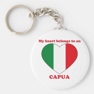 Capua Basic Round Button Key Ring