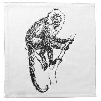 Capuchin Monkey Napkin