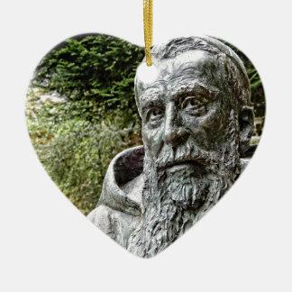 Capucin Monk Ceramic Heart Decoration