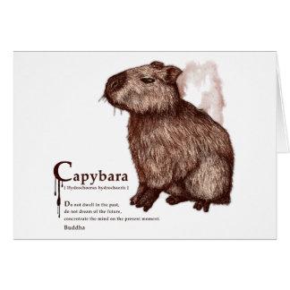 capybara - chocolate グリーティングカード