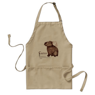 capybara - chocolate standard apron