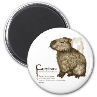 capybara - sepia magnet