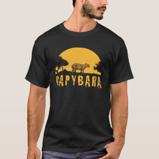 Capybara Sunset T-Shirt