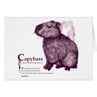capybara - wine カード