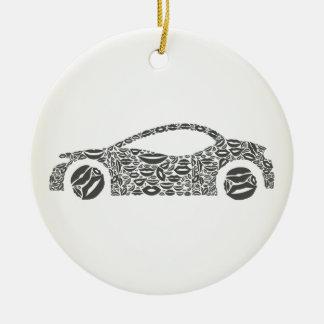 Car a lip christmas ornament