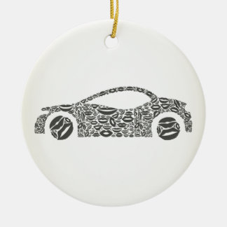 Car a lip round ceramic decoration