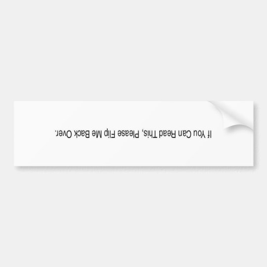 car accident bumper sticker