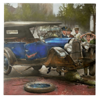 Car Accident - It came out of nowhere 1926 Large Square Tile