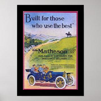 Car Advertising Vintage Poster