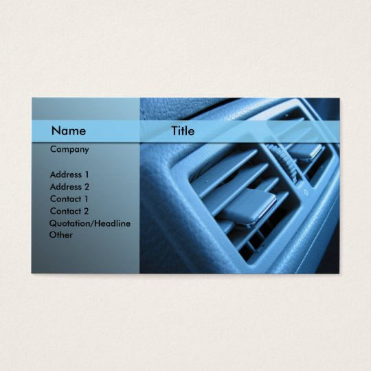 car air conditioner business card