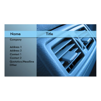 car air conditioner pack of standard business cards