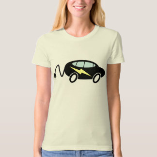 Car and lightning bolt with plug T-Shirt