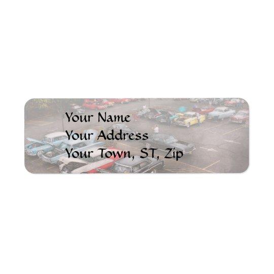 Car - Antique car show Return Address Label