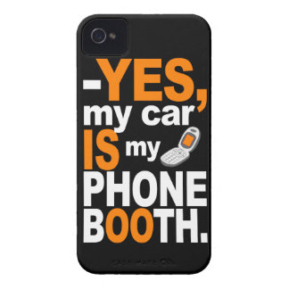 Car as a Phone Booth Blackberry Curve case