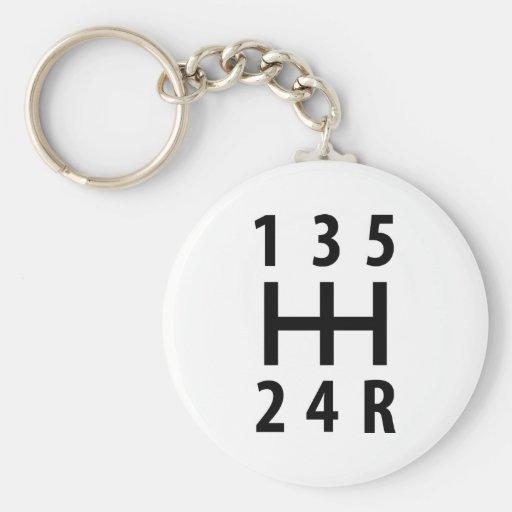 car auto gear shift 5 basic round button key ring