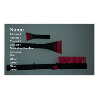 Car brush and scraper business cards