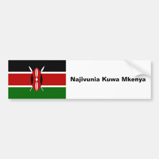 Car Bumper Sticker: proud to be Kenyan Bumper Sticker