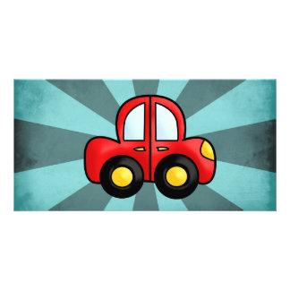 Car cartoon personalised photo card