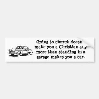 Car, Church Bumper Sticker