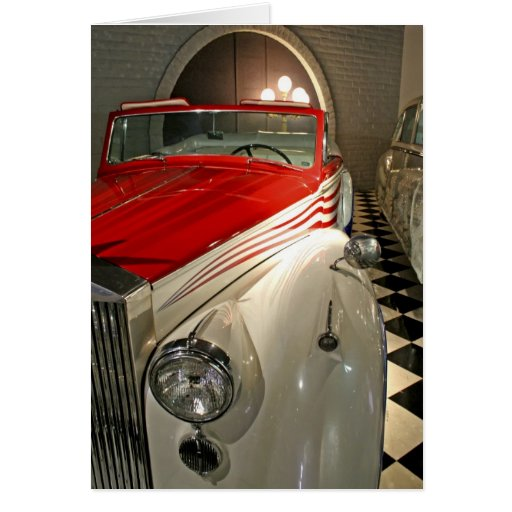 Car collection in The Liberace Foundation and Greeting Card