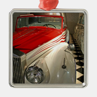 Car collection in The Liberace Foundation and Silver-Colored Square Decoration