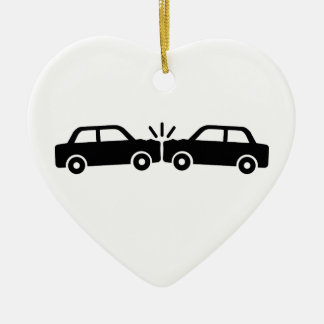 Car crash christmas ornament