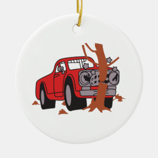 CAR CRASH SCENE CHRISTMAS ORNAMENT