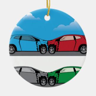 Car Crash vector Christmas Ornament